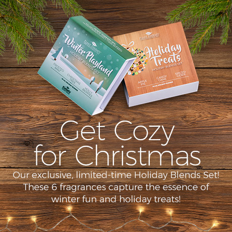 Get Cozy for Christmas. Our Exclusive limited time holiday blends set! These 6 fragrances capture the essence of winter fun and holiday treats