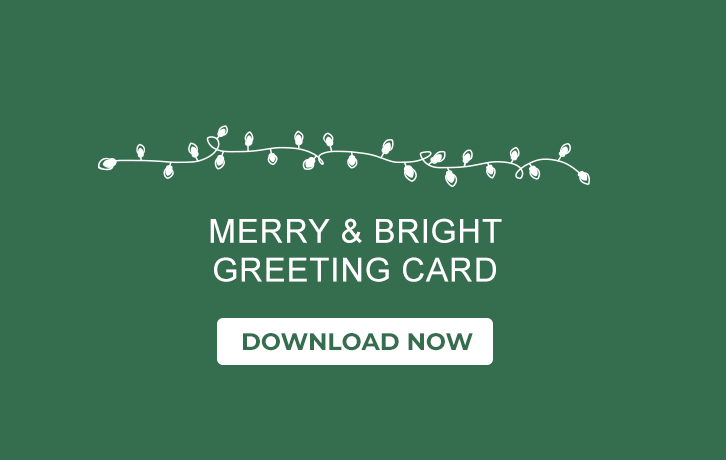 Merry & Bright Greeting Card - Download Now