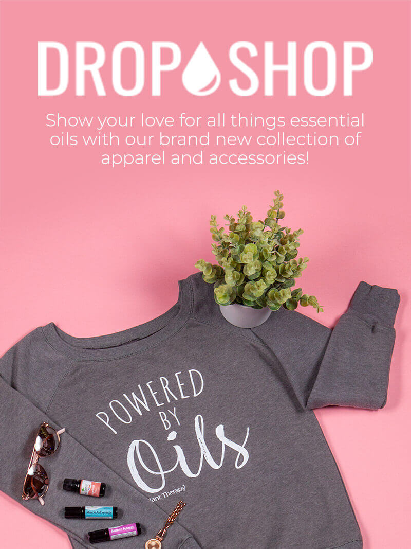 DROP SHOP - Show your love for all things essential oils with our brand new collection of apparel and accessories!