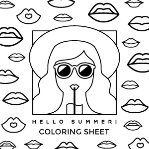 Lip Balm Coloring Sheet