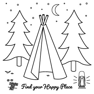Happy Place Coloring Sheet