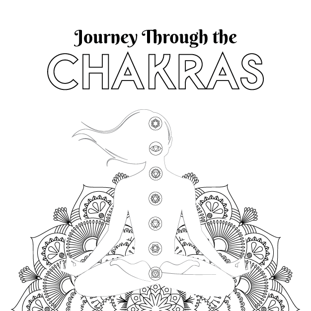 Journey Through the Chakras Coloring Sheet