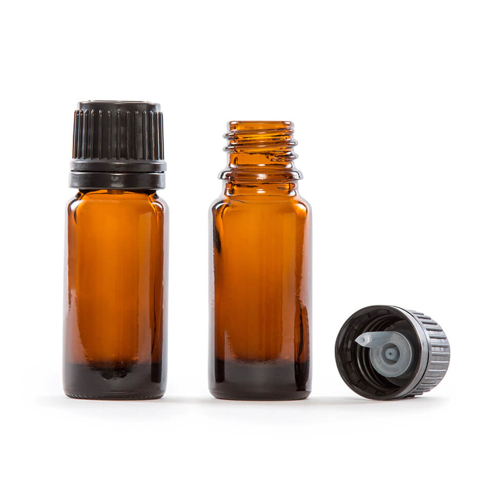 10ml 1 3 Fl Oz Amber Glass Essential Oil Bottle With