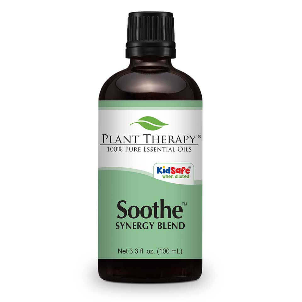 Soothe Synergy Essential Oil 100 mL Soothe contains essential oils that help smooth disturbed skin integrity and relieve reddened skin. Many potential irritants come in contact with our skin every day, such as soaps, fabric dyes, shampoos, cosmetic preservatives and pigments, nickel, wool and environmental pollutants;  even diet can play a role. For some people, skin sensitivities are an everyday challenge.     For another KidSafe, try our fantastic companion KidSafe synergy blend -  Skin Soother .