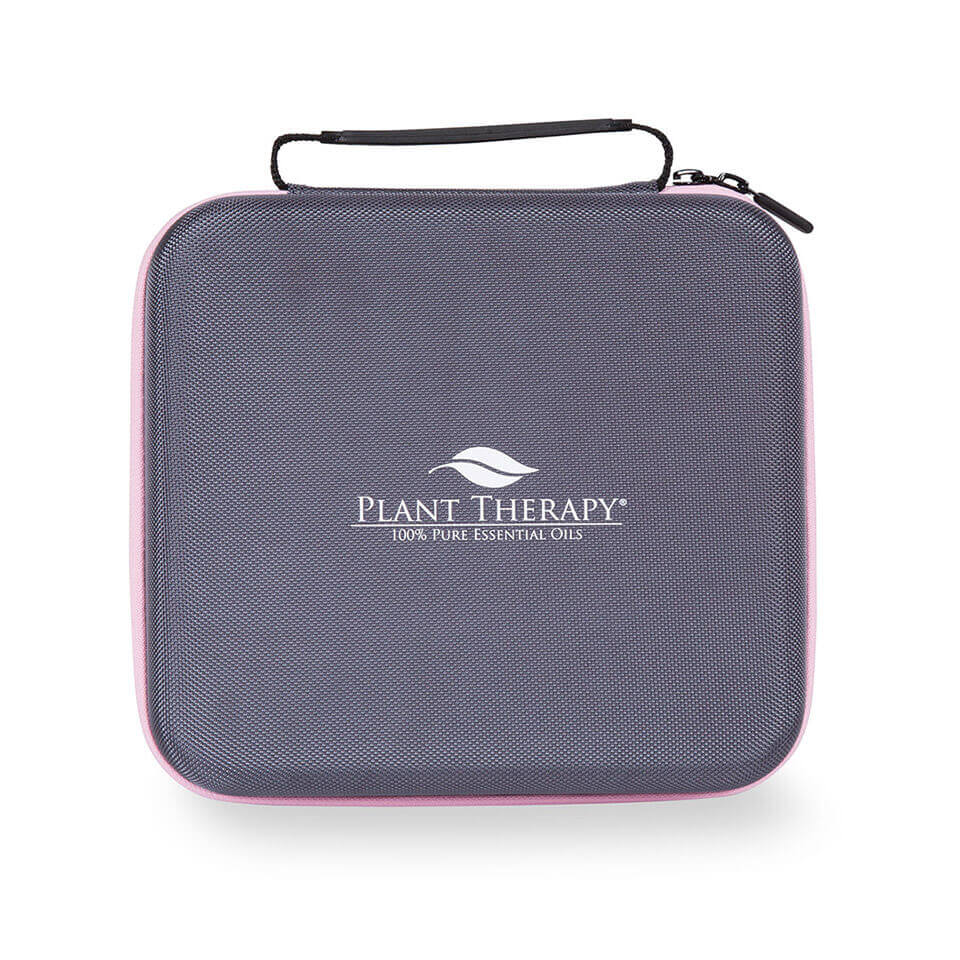 Hard-Top Carrying Case - Large Pink & Gray