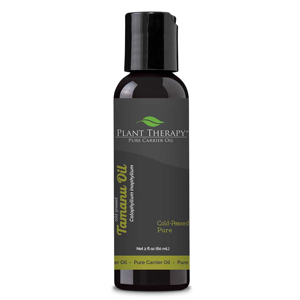 Tamanu Carrier Oil 2 oz Tamanu Carrier Oil is cold pressed from the fruit of the Calophyllum inophyllum tree. Although there are several areas where this tree is produced,  this particular Tamanu Carrier Oil originates from Madagascar. The fruit (seeds) are hand gathered from the coastal Tamanu Trees, as they are said  to yield the highest quality oil. This remarkable, glistening greenish-brown oil is a must have for skin issues. Tamanu is rich and thick and  absorbs into the skin luxuriously and slowly. It is best used within a blend with other carriers, because of its viscosity.    Tamanu can help reduce and relieve reddened, irritated, skin prone to blemishes, and offer relief from pesky outdoor bug bites;  soothing and repairing as it is applied. Using Tamanu Carrier Oil can help reduce the appearance of scars and marks caused from weight gain or pregnancy.  Tamanu is gentle, effective, and promotes restoration and healthy skin growth, which will leave the skin soft and feeling better than new.