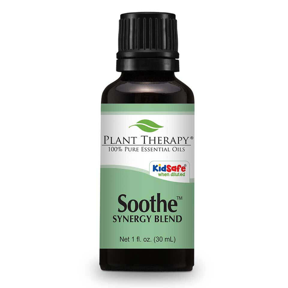 Soothe Synergy Essential Oil 30 mL Soothe contains essential oils that help smooth disturbed skin integrity and relieve reddened skin. Many potential irritants come in contact with our skin every day, such as soaps, fabric dyes, shampoos, cosmetic preservatives and pigments, nickel, wool and environmental pollutants;  even diet can play a role. For some people, skin sensitivities are an everyday challenge.     For another KidSafe, try our fantastic companion KidSafe synergy blend -  Skin Soother .