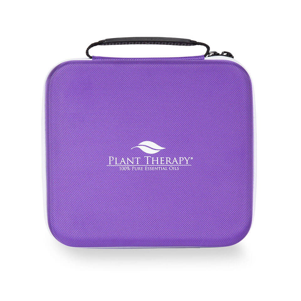 Hard-Top Carrying Case - Large Purple & White