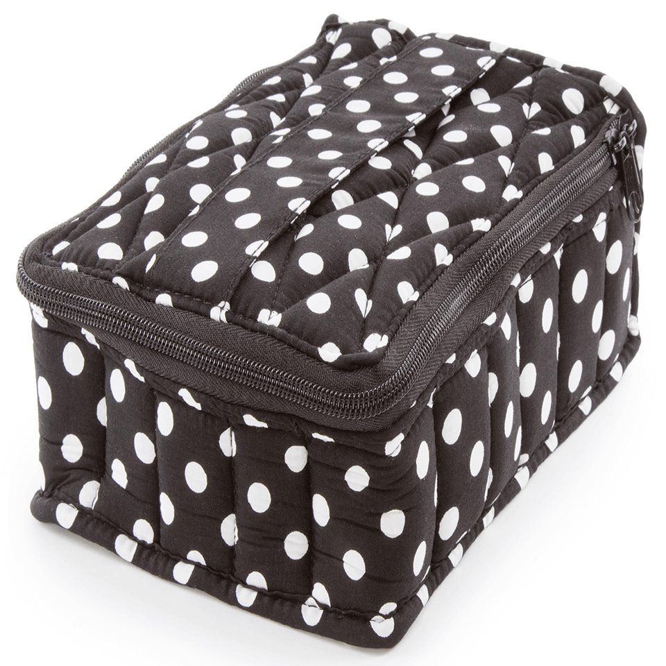 Soft Essential Oils Carrying Cases 30 Bottle (Black/Polka Dot)