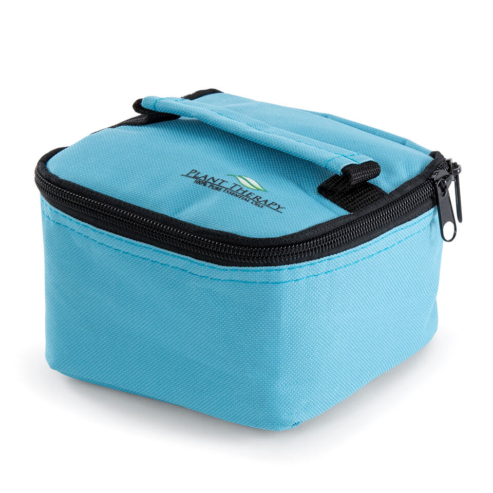 Convertible Essential Oil Case for both 10 ml (holds 25) or 30 ml (holds 16). (Blue)