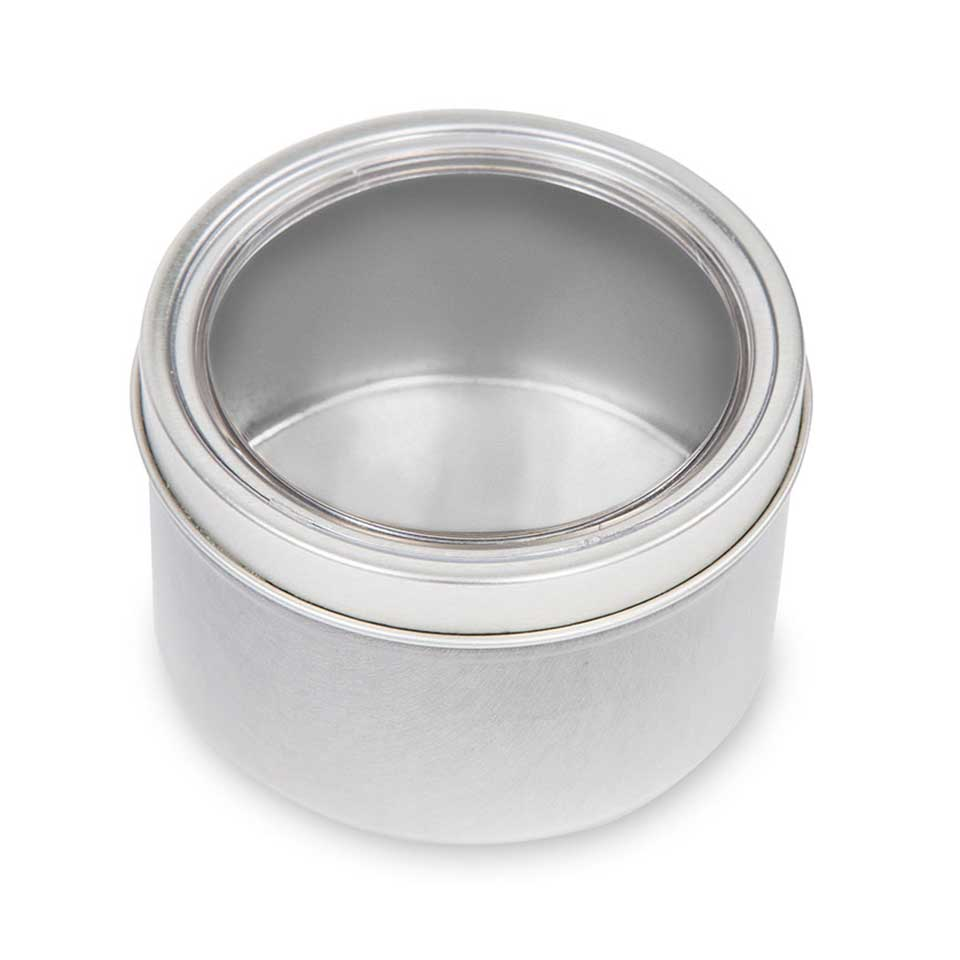 8 oz. Clear Top Tin - 4 Pack
