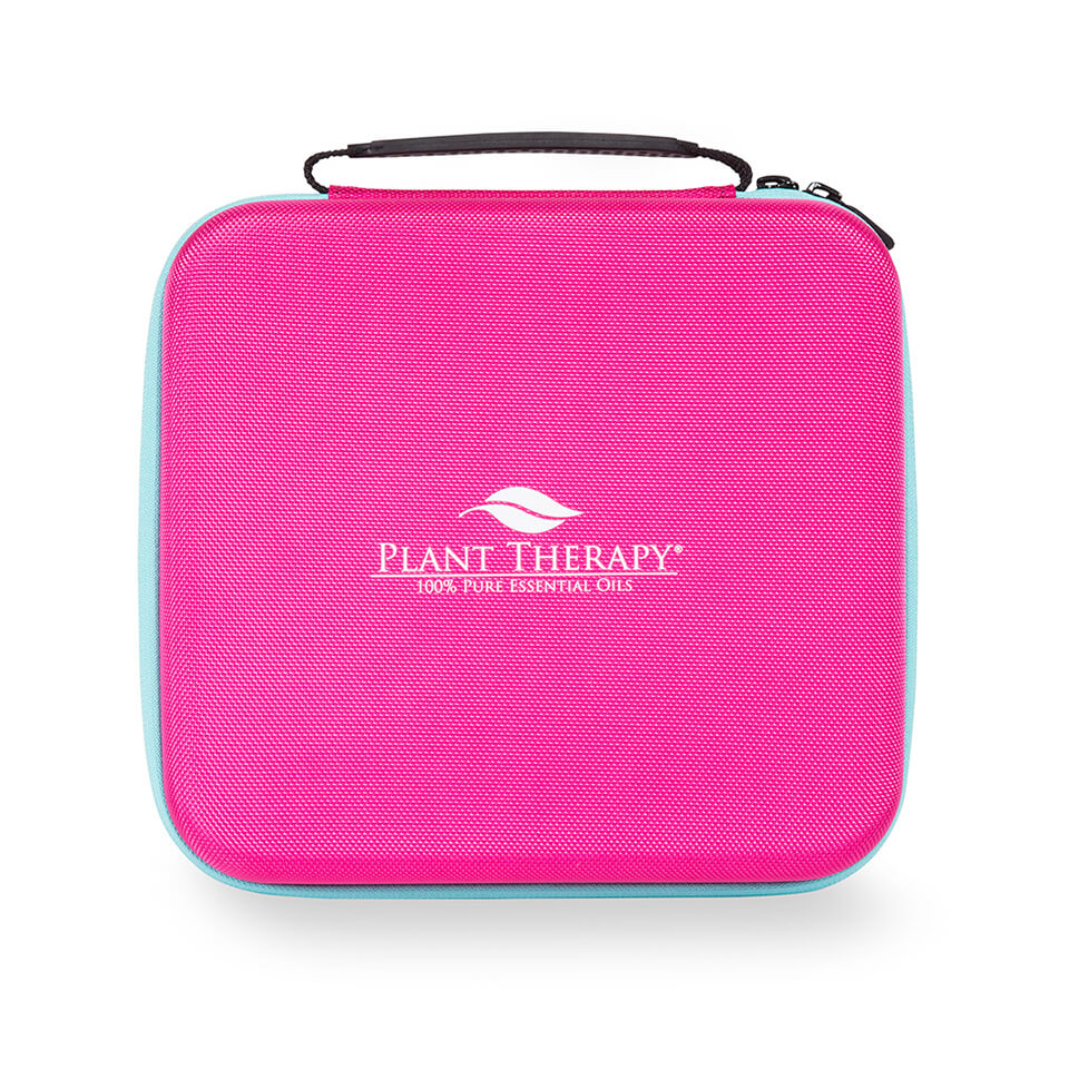 Image of Hard-Top Essential Oil Carrying Case - Large Pink & Teal