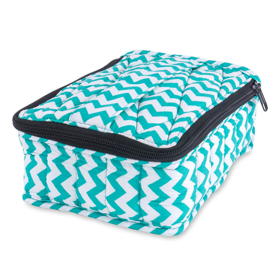 Soft Essential Oils Carrying Cases 30 bottle (Turquoise Chevron / Turquoise)