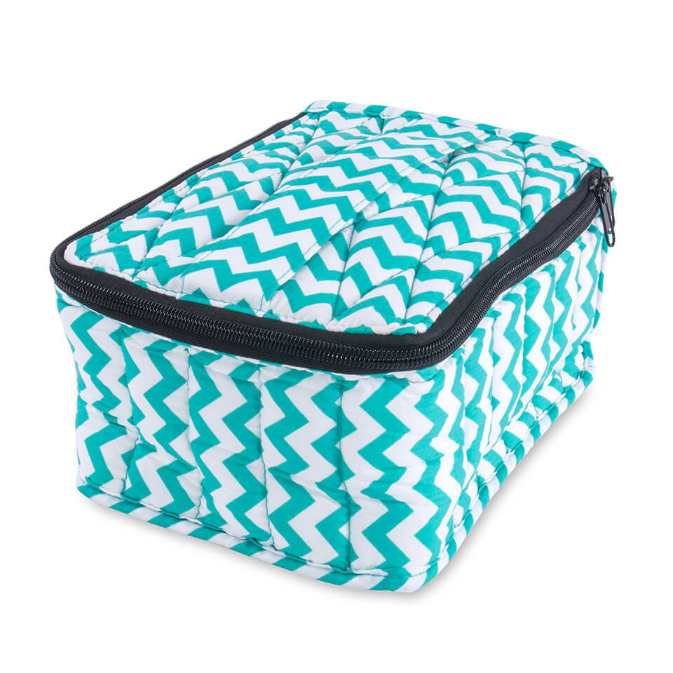 Soft Essential Oils Carrying Cases 30 bottle Turquoise Chevron / Turquoise