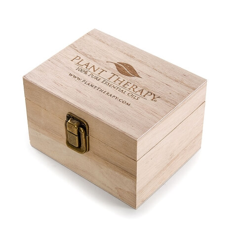 12 count plant therapy logo wooden essential oil organizer storage